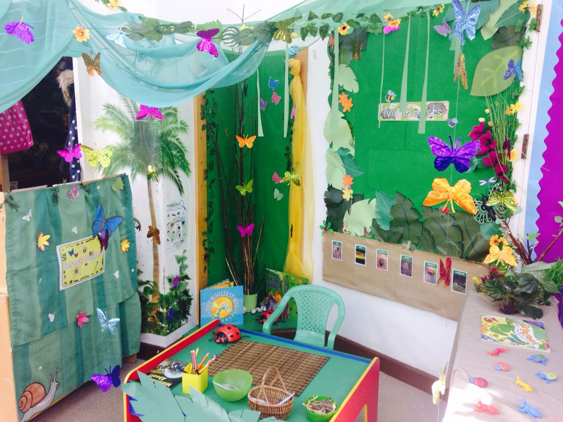Classroom Decor On A Budget ~ Butterfly garden role play school projects pinterest