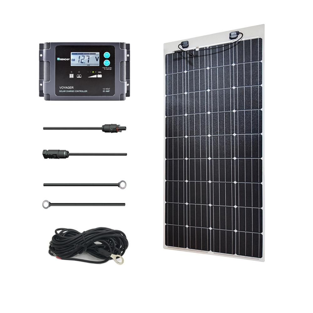 Renogy 160 Watt 12 Volt Monocrystalline Off Grid Solar System Solar Marine Kit Mar160dbvoy20ts Off Grid Solar Solar Power Solar System