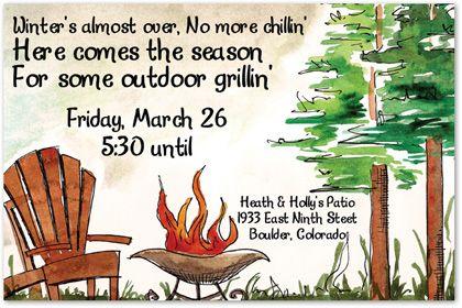 Camping Birthday Invitations, Rustic Outdoors Invitation