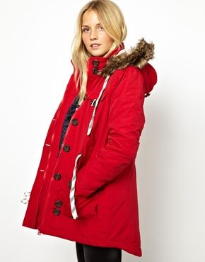 Bellfield Parka Jacket With Faux Fur Trim Hood | Fashion Faves ...