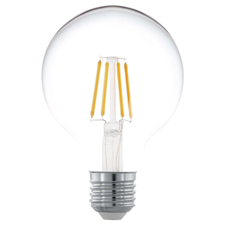 Lot De 2 Ampoules Globe 80 Mm E27 470 Lm 40 W Blanc Chaud Eglo Ampoule Led Et Ampoule Decorative