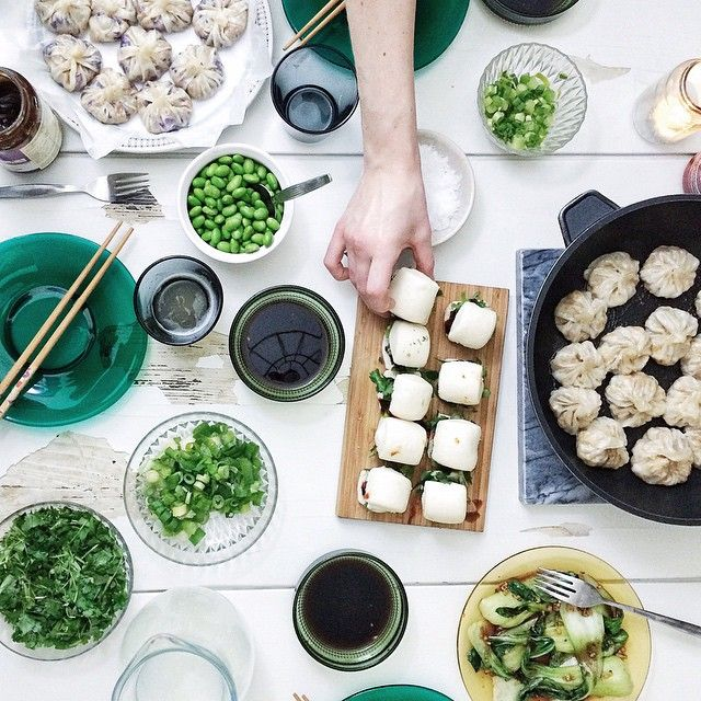 Amazing vegan dumplings made by @liedman and @summerheart
