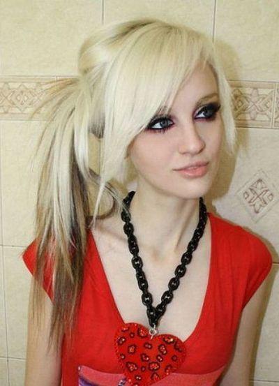 Ponytail Emo Aesthetics Pinterest Emo Hair Hair Styles And Hair