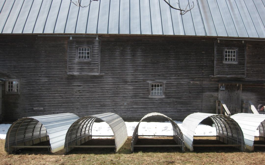 Our mobile pig and chicken shelters