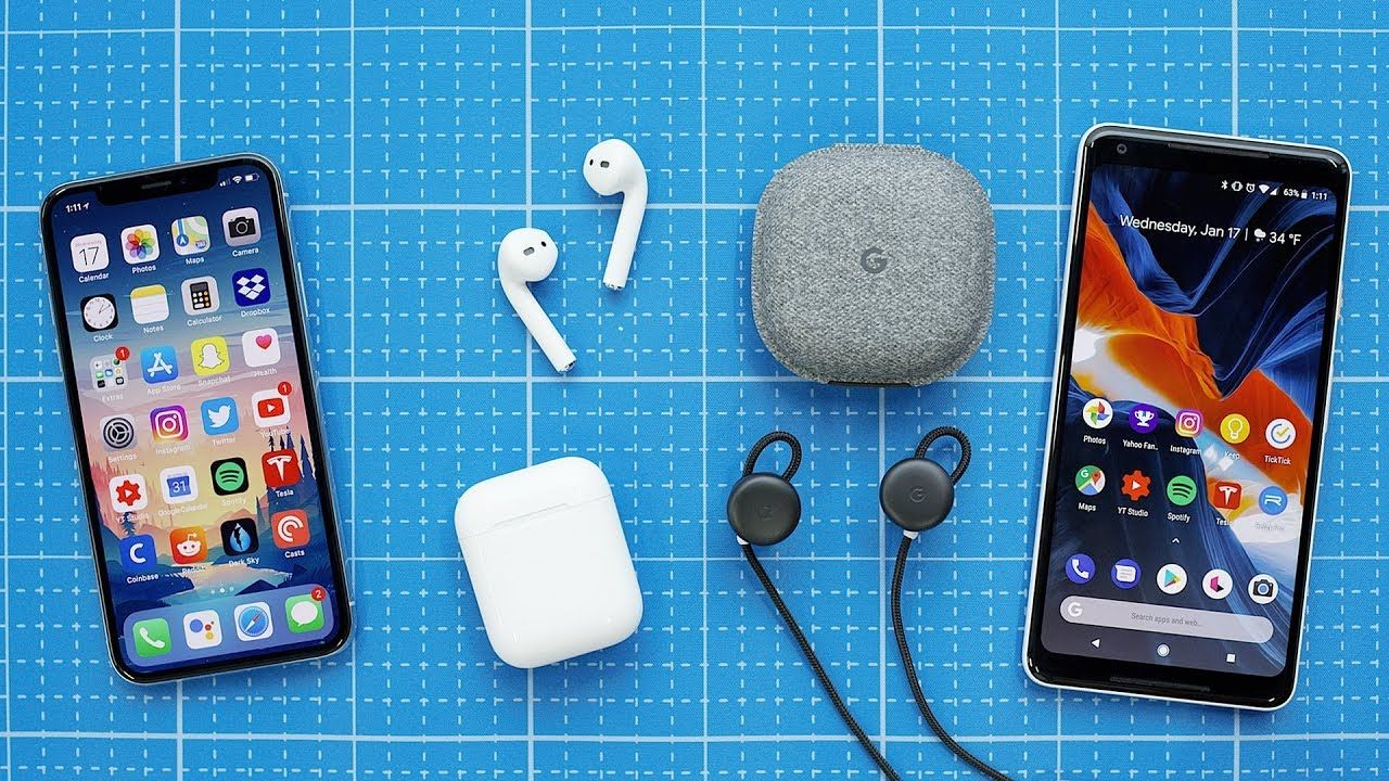 Airpods for android earbuds in ear headphones