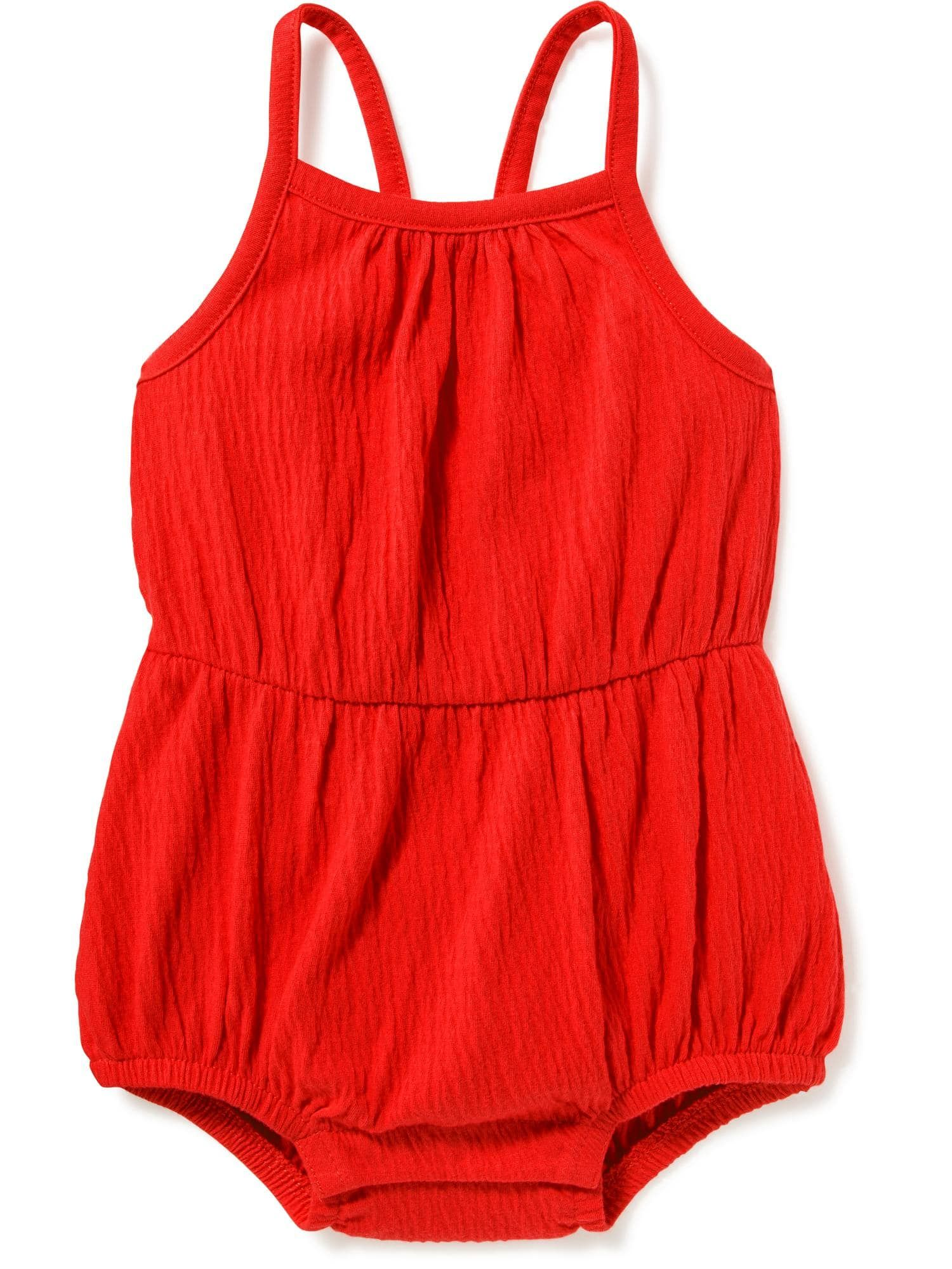 Jersey Bow Back Bubble Romper for Baby Old Navy