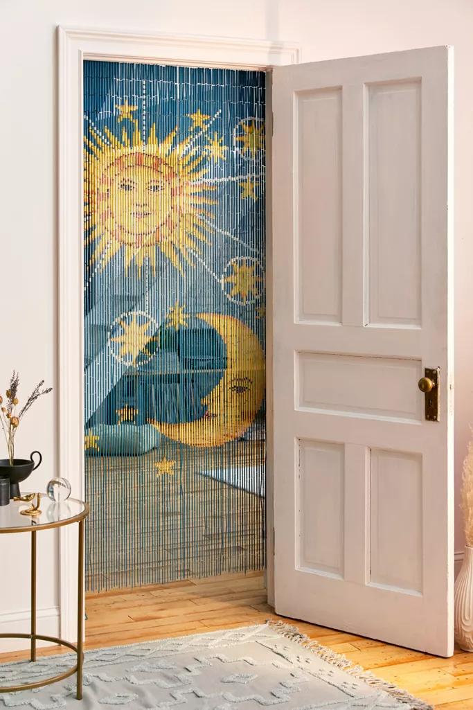 Solar Bamboo Beaded Curtain In 2020 Bamboo Beaded Curtains Beaded Curtains Beaded Door Curtains