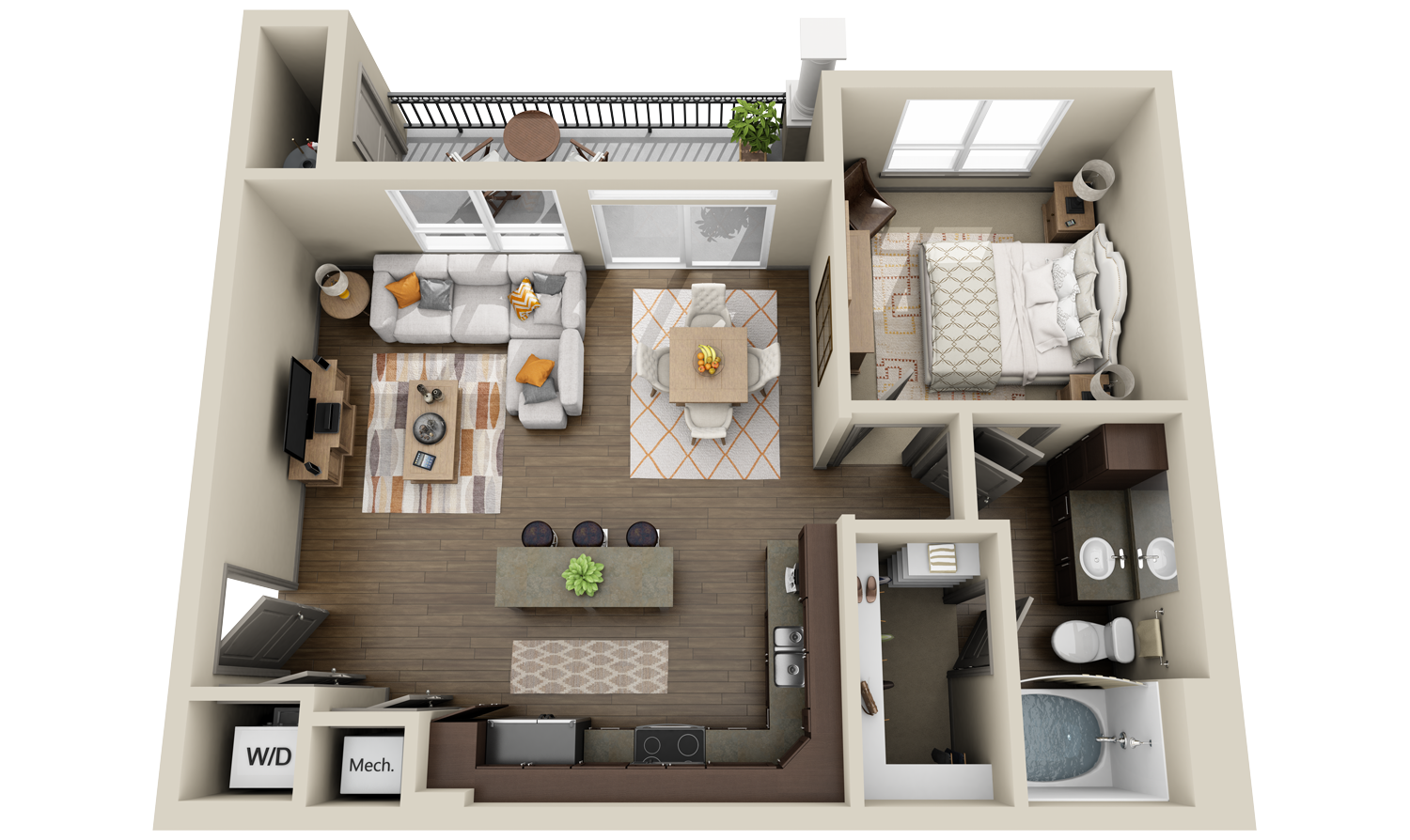 Http 3dplans Com Wp Content Uploads 2014 11 Stoneleigh Cos Waterford Springs A3 New Construction1 Apartment Floor Plans Floor Plan Design Modern Floor Plans
