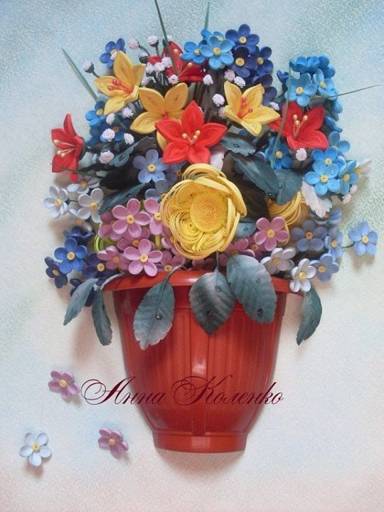 42 new paper quilling flower vase designs decoration pinterest 42 new paper quilling flower vase designs mightylinksfo