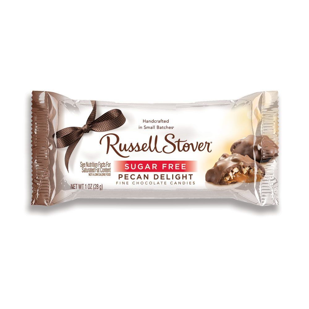 Image For Sugar Free Pecan Delights 1 Oz Bars Case Of 30 From Russell Stover Fine Chocolate Sugar Free Chocolate Candy