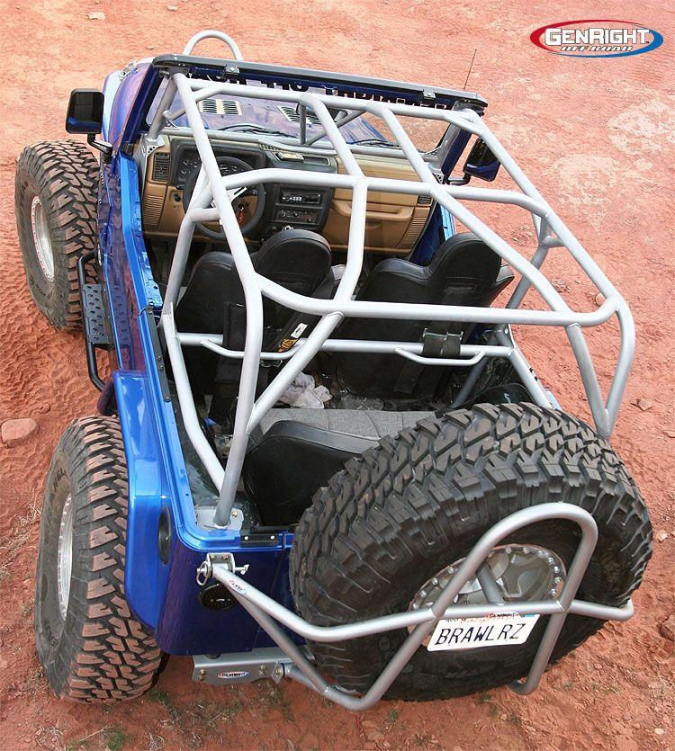 Genright Roll Cage On Jeep Tj Top View Jeep Tj Jeep Gear Jeep Cj