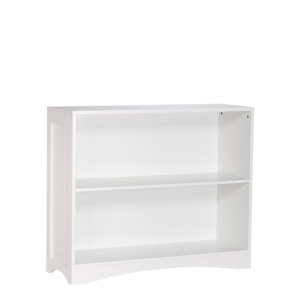 Riverridge Home White Open Bookcase 02 022 Horizontal Bookcase