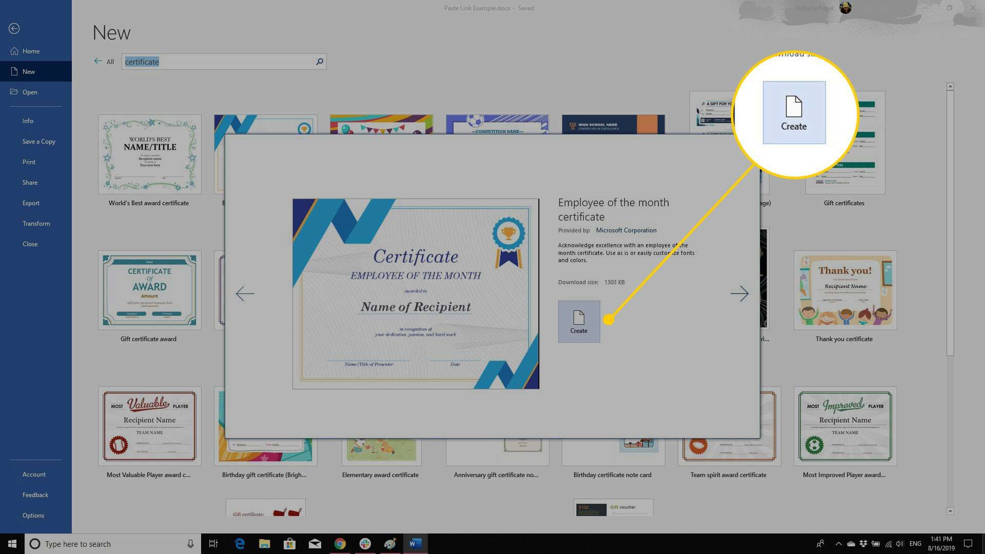 Using A Certificate Template In Microsoft Word With Regard To Button Template For Word Best Samp Certificate Templates Letter Template Word Business Template
