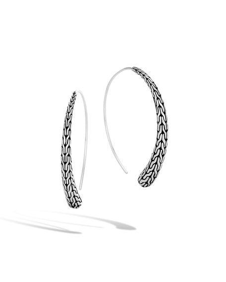 96c1a321b Classic Chain Silver Medium Thread-Through Hoop Earrings in 2019 ...