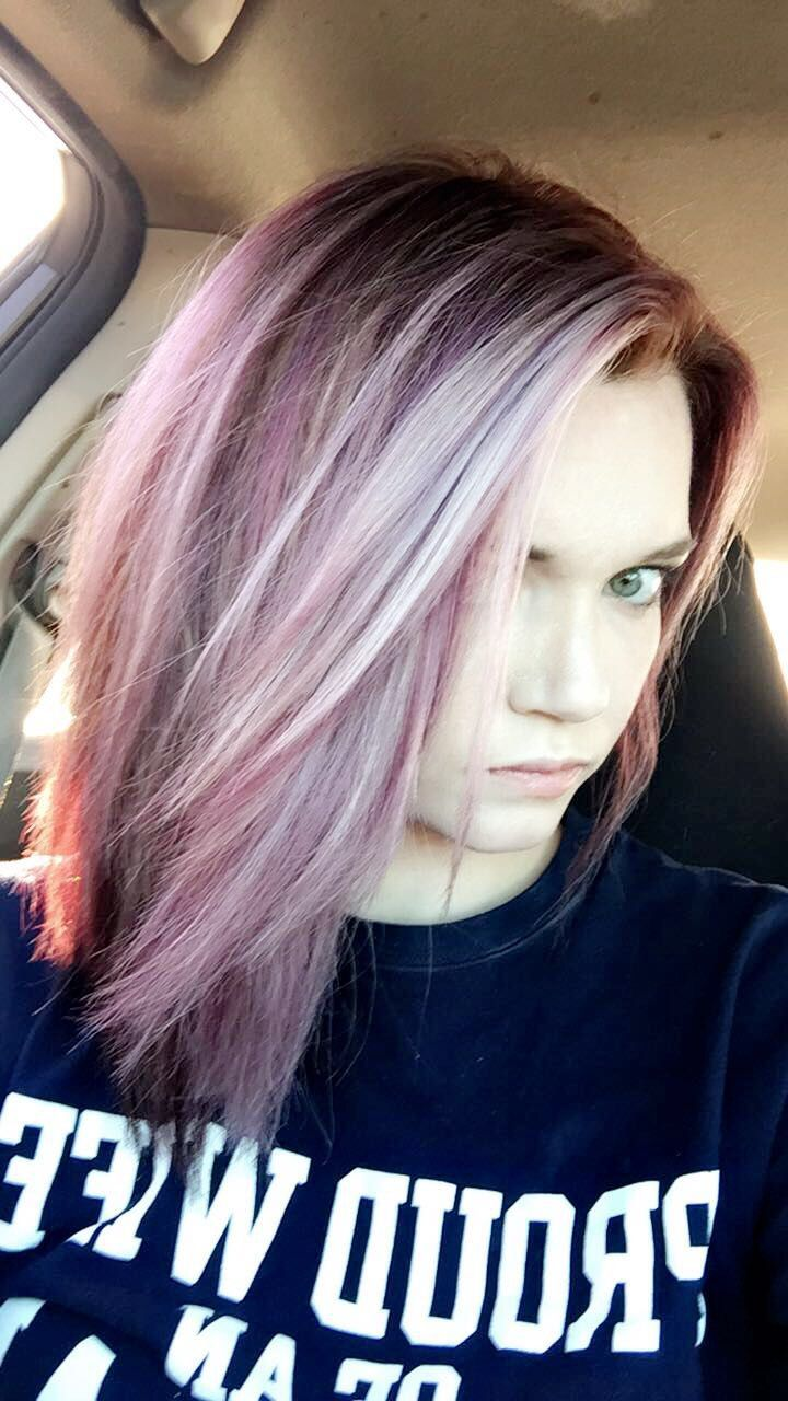Purple and blonde hair hair pinterest blondes