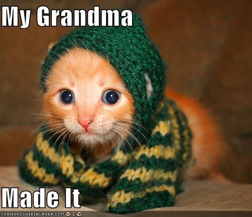 Grandma made a sweater
