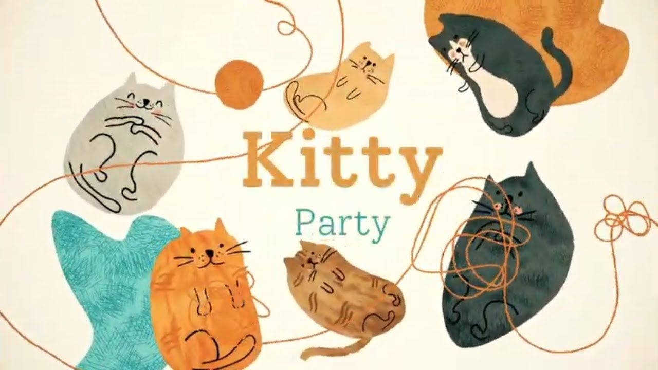 Kitty Party Cute Animated Cats In 2020 Cat Party Kitty Cute