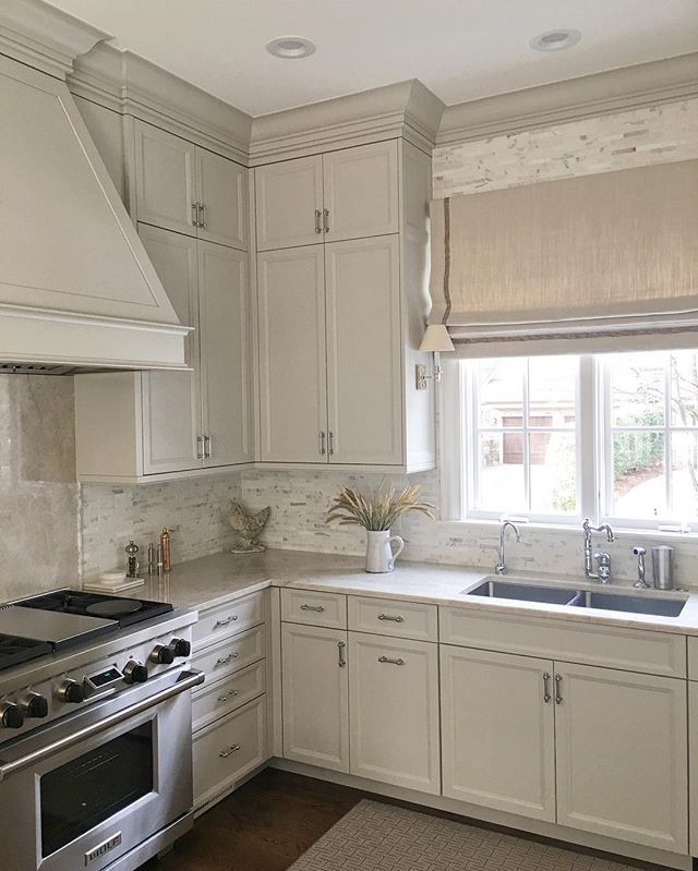 Neutral Kitchen Quartzite Counters Amy Vermillion Interiors