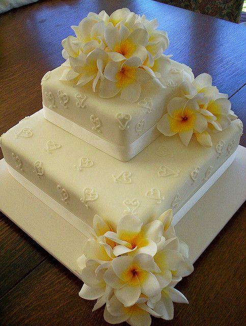Silk Flower Frangipani Wedding Cake by sugarlipscakes, via Flickr ...