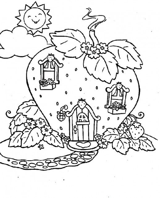 Home Sweet Home Strawberry Land Living Place For