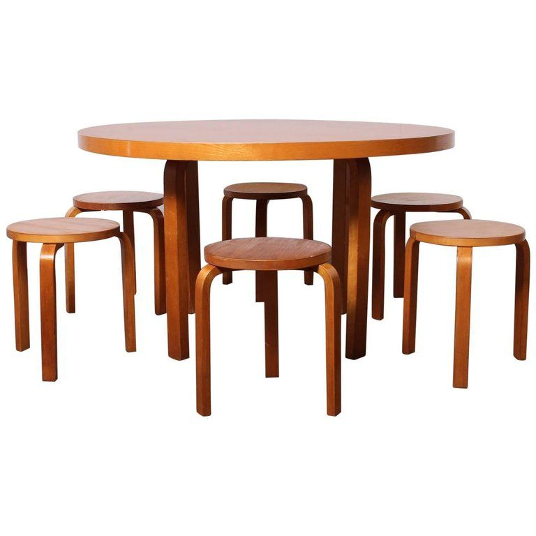 Alvar Aalto Table And Stools