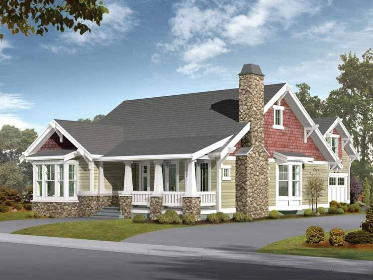 Eplans craftsman house plan great plan for alley access for Craftsman house plans with mother in law suite