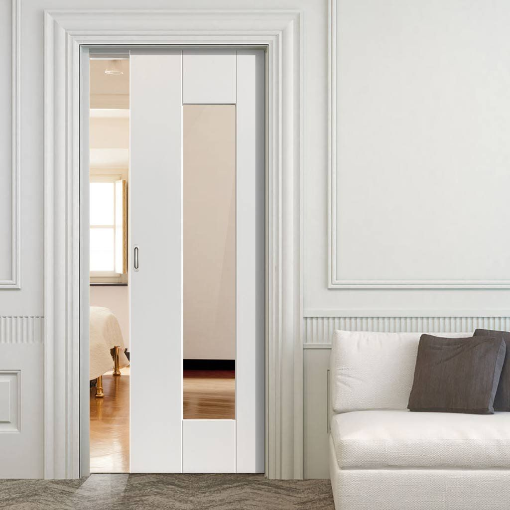 Image Of Single Sliding Pocket Doors Pocket Doors Pinterest