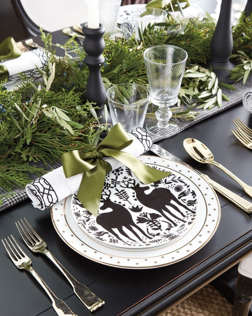 3 Chic Table Settings For Your Holiday Dinner How To Decorate