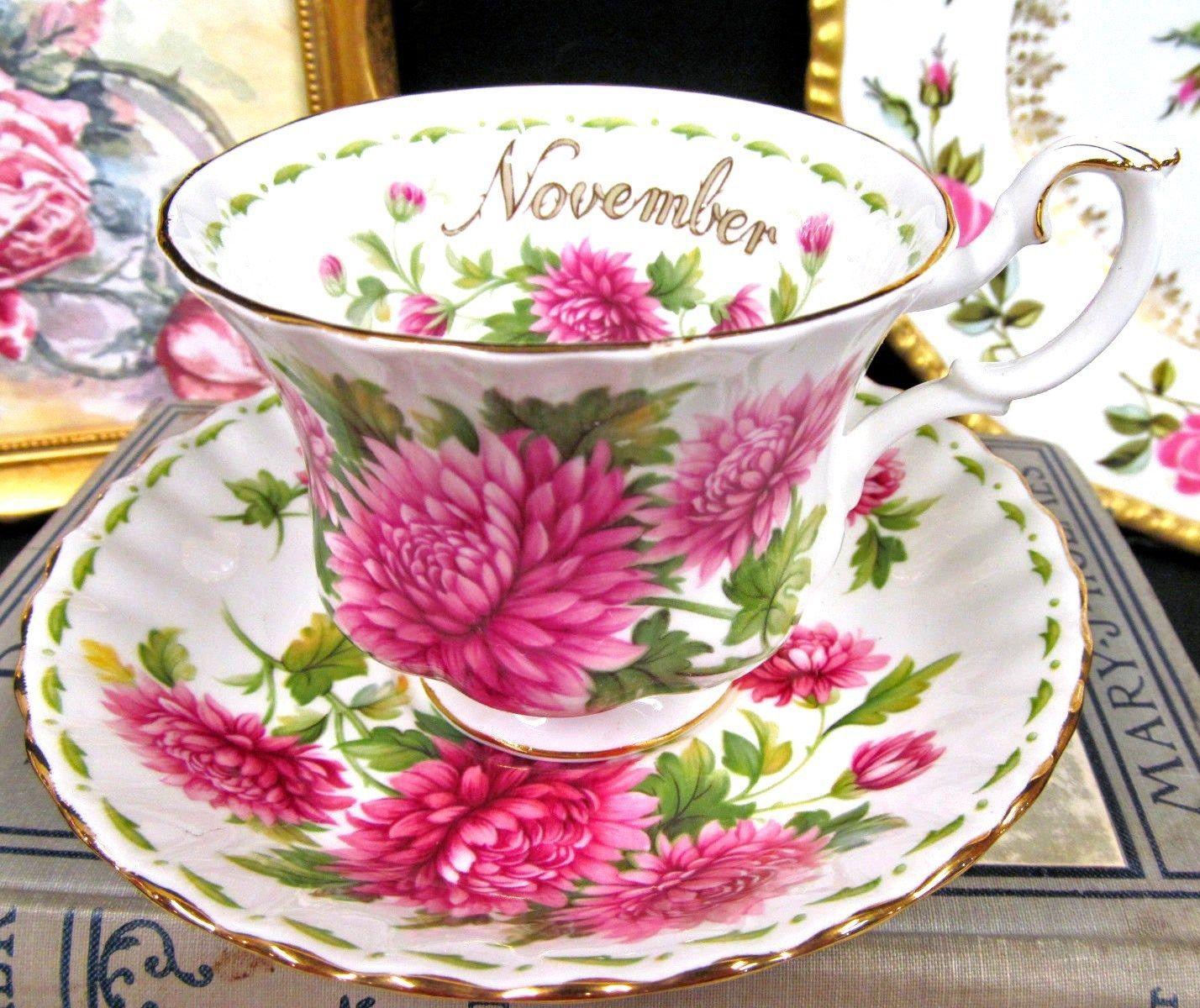 Royal Albert Chrysanthemum Flower of the Month November