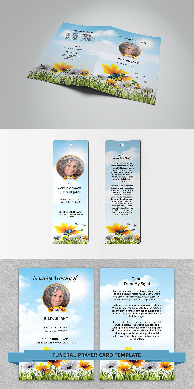 Funeral Program Template Matching Prayer Card And Bookmark Funeral - Prayer card template