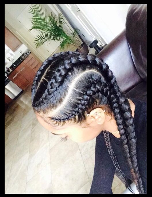 thick cornrows natural hair styles