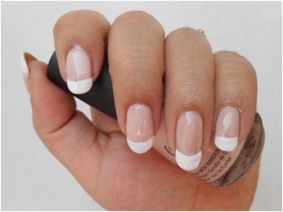 How To Do Your Nails French Manicure At Home Nail Art Pinterest