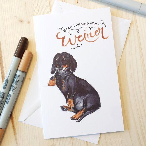Dachshund Funny Wiener Valentine S Day Card Funny Friendship Card