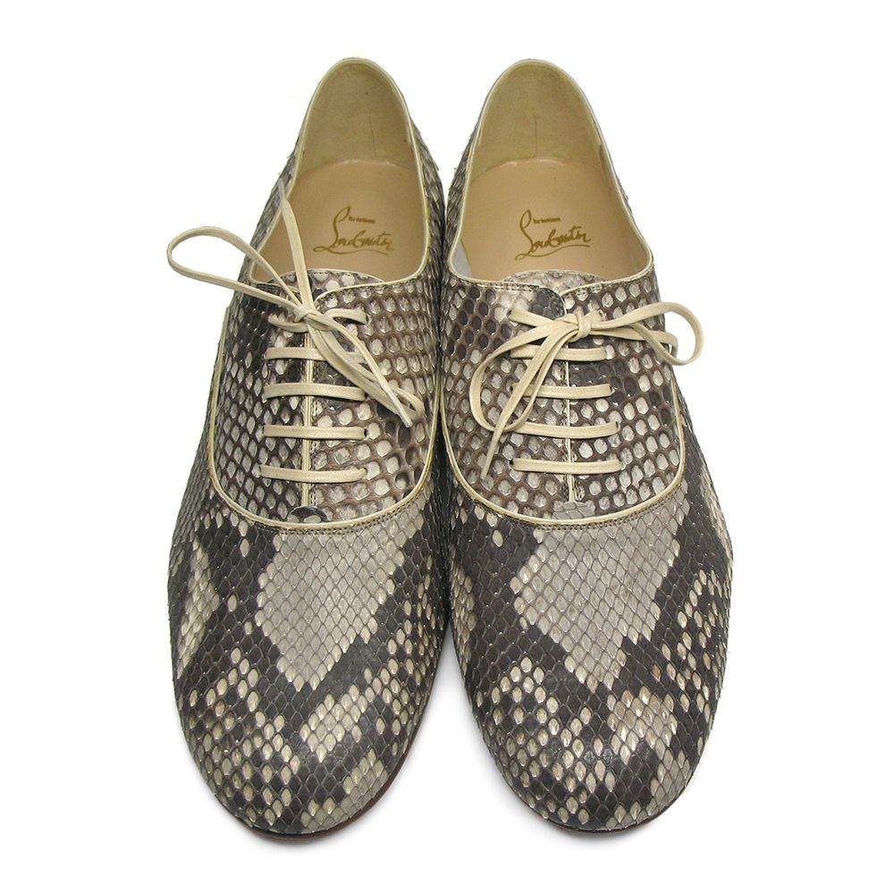 cheap sale outlet locations Christian Louboutin Python Lace-Up Oxfords eastbay sale online 3wh9CIa1nY