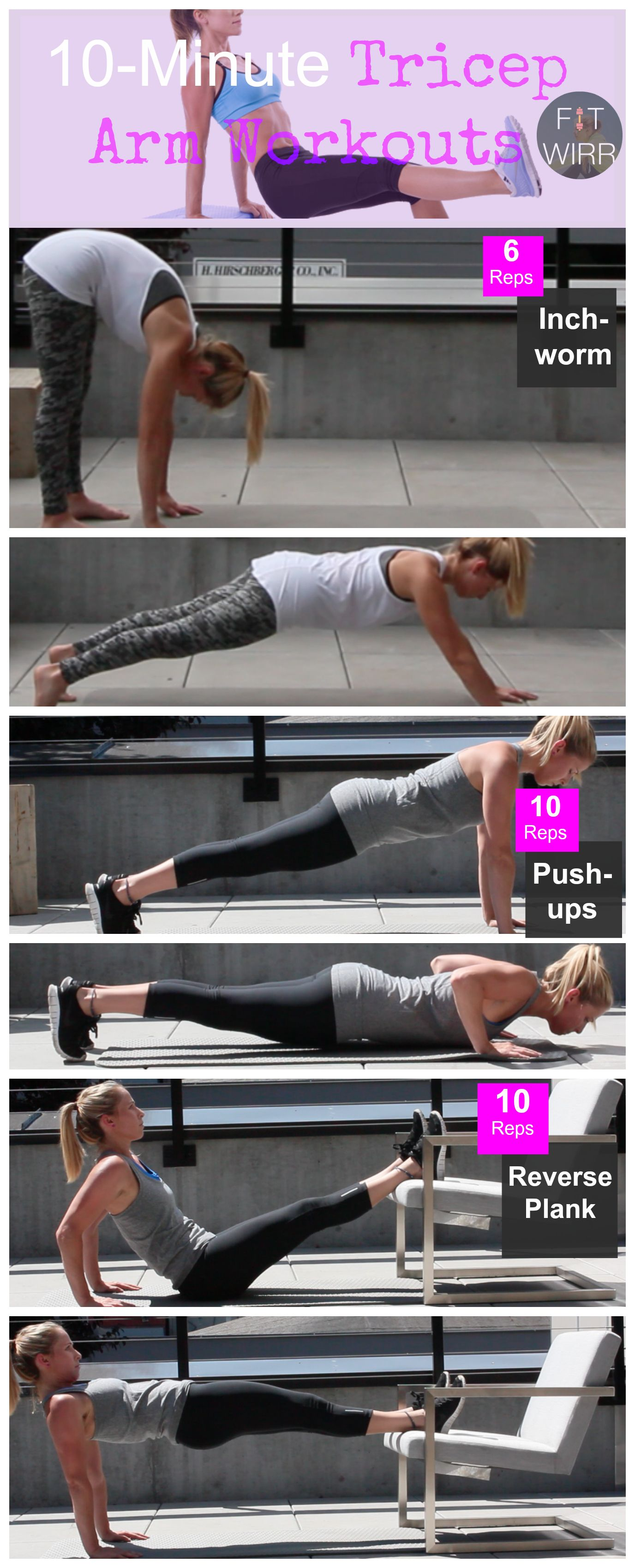 10 Minute Tricep Workouts For Women No More Bingo Wings