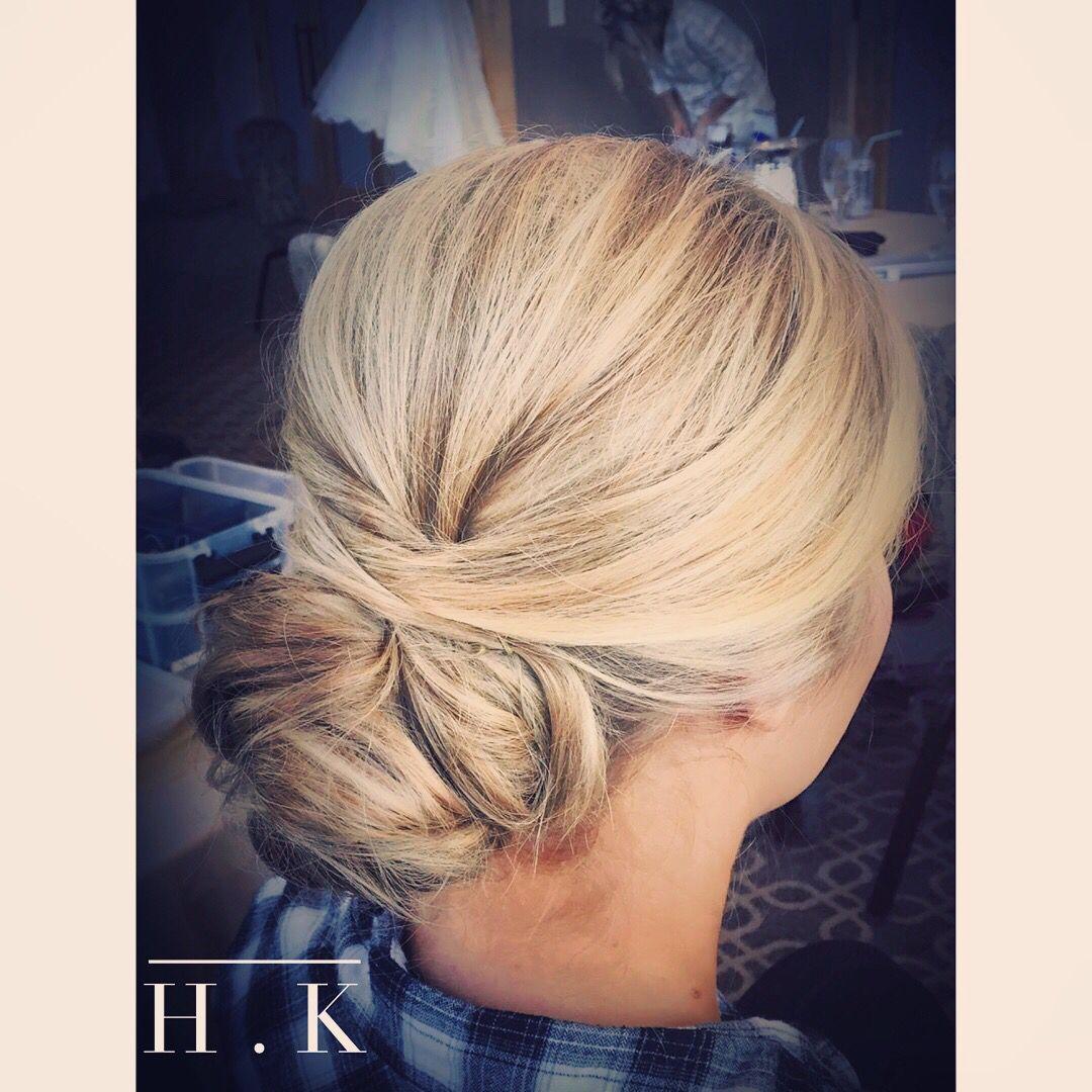 wedding hair for fine blonde hair. pageant hair or a bridal