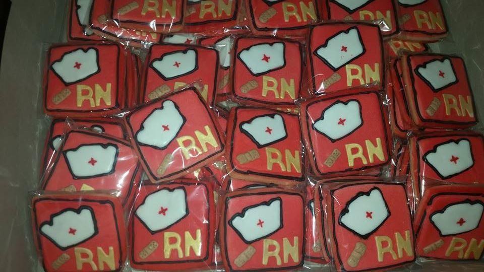 Nursing Cookies - graduation, nursing party, nurse appreciation, nurse's week