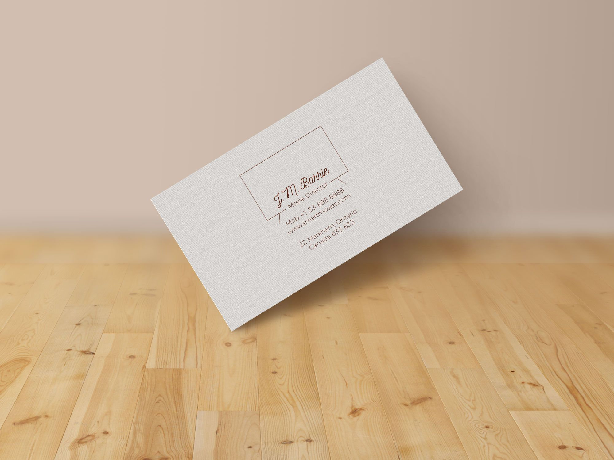Free Extremely Simple Business Card Design & Mockup PSD | Design ...