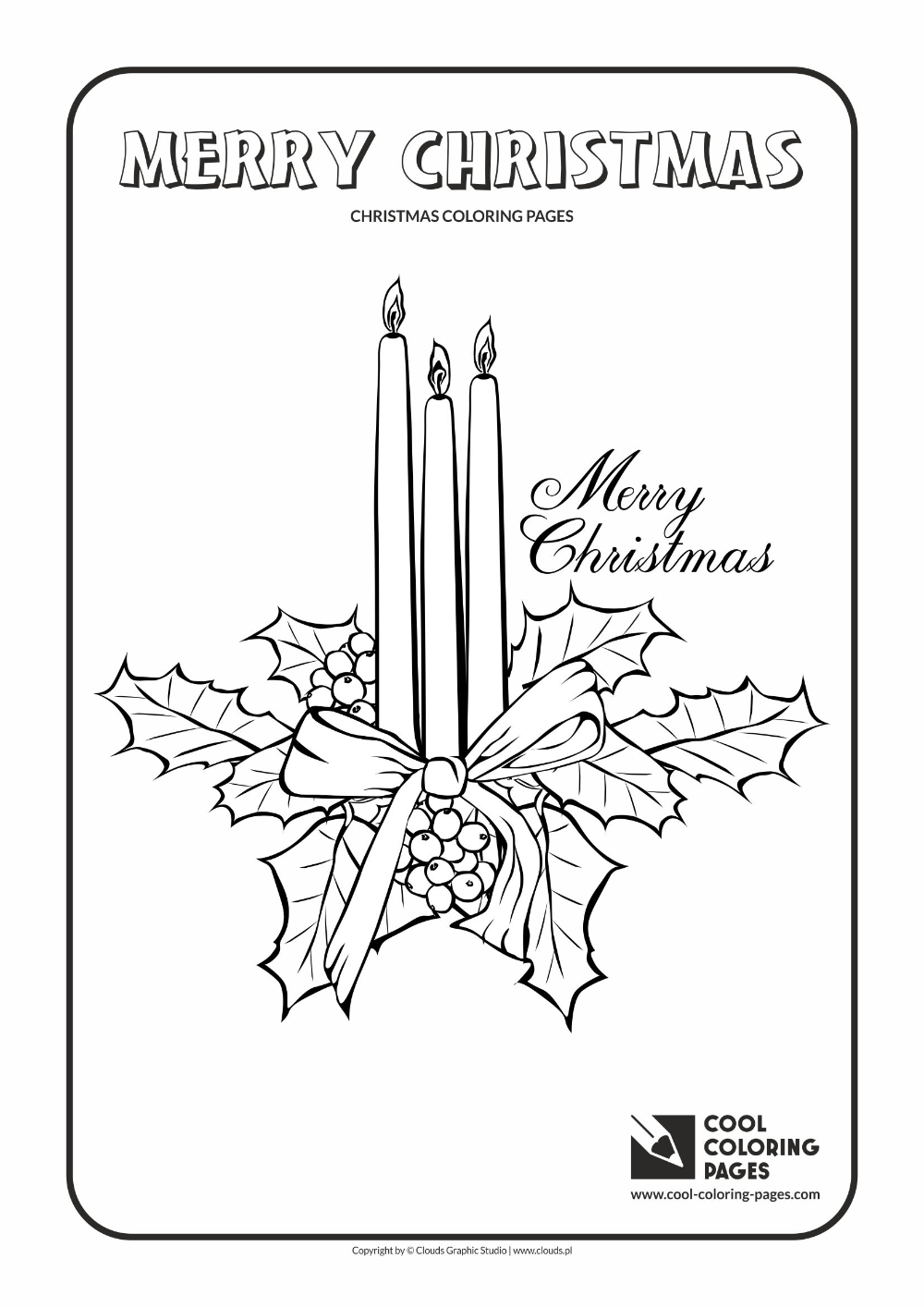 Cool Coloring Pages Christmas candles coloring page - Cool ...
