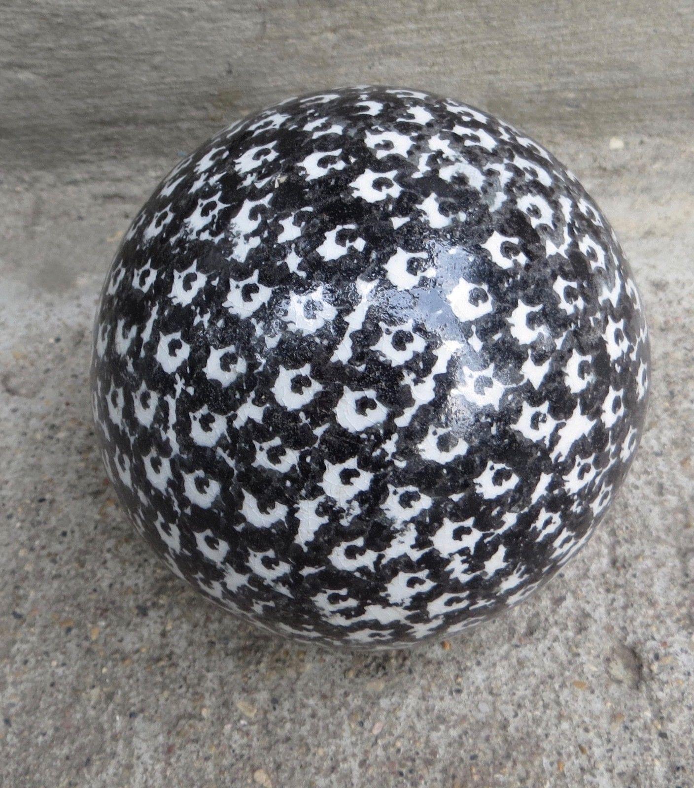 Antique Victorian Carpet Bowling Ball Black And White Sponge Design Splatter Carpet Bowls Bowling Ball Christmas Bulbs