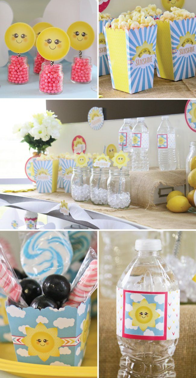 You Are My Sunshine Party Ideas Baby Shower And Birthday