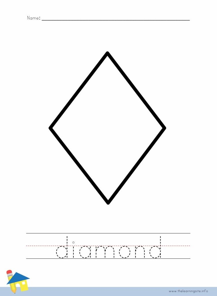 Diamond Shape Coloring Page | Cut Files | Pinterest | Outline images ...