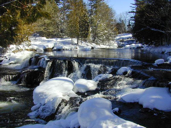 Bond Falls Michigan Map.Pure Michigan Bond Falls Winter Wonderland Pinterest Weather