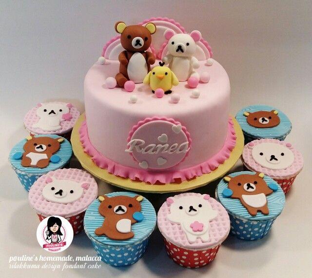 Rilakkuma Design Fondant Cake Cupcakes