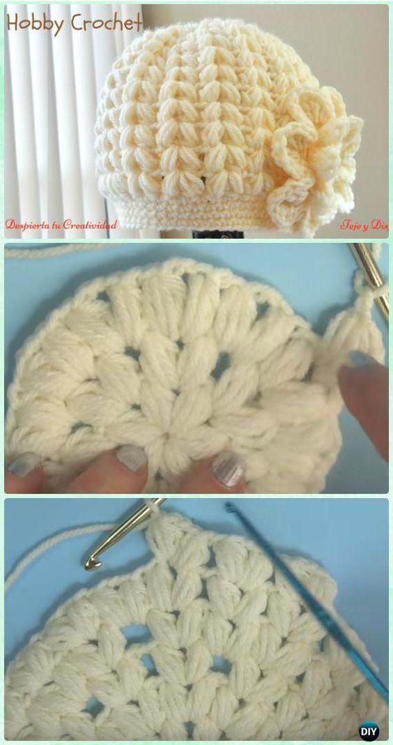 DIY Crochet Beanie Hat Free Patterns Baby Hat Winter Hat | Ser mama ...
