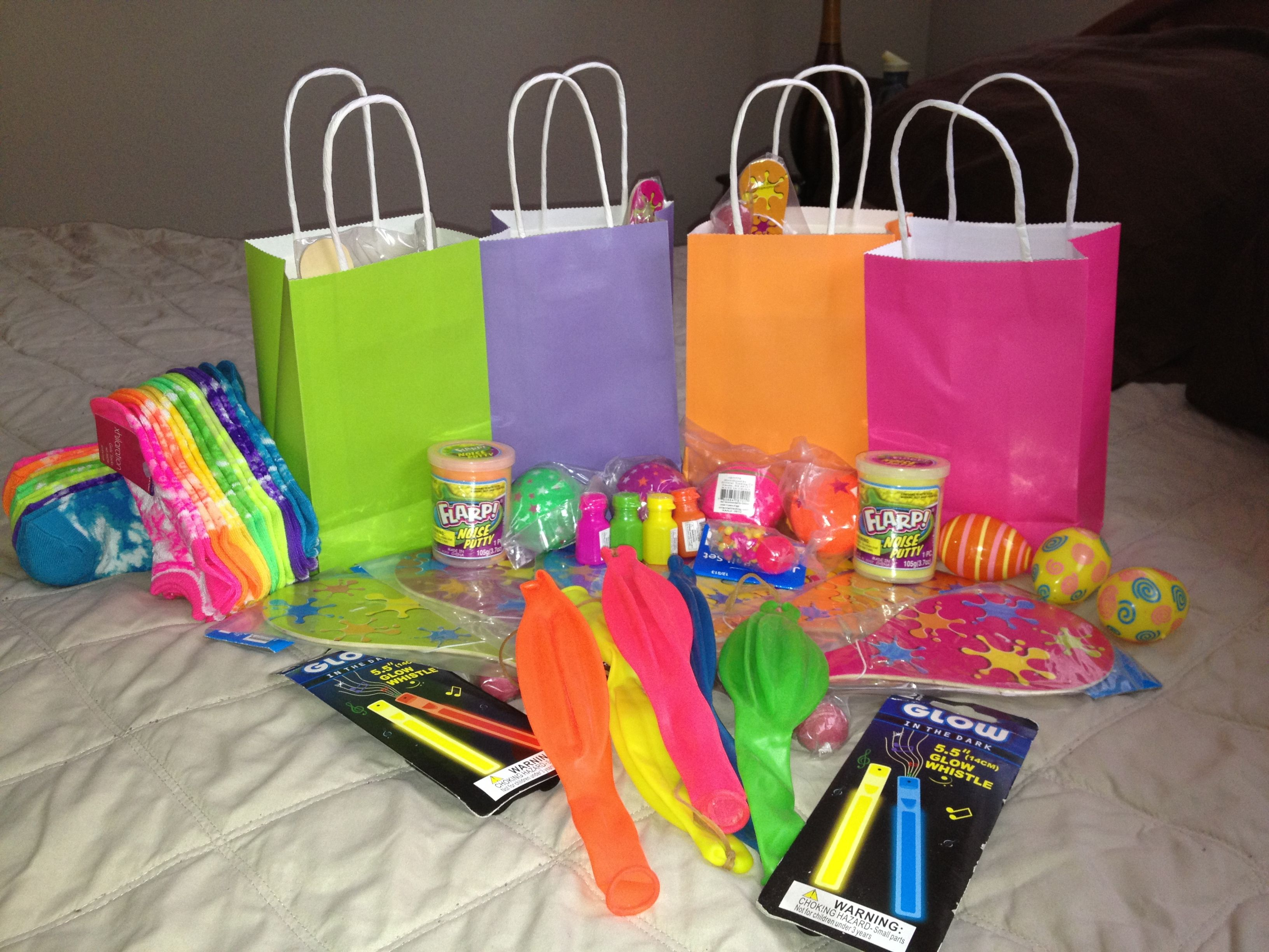 Neon party favors