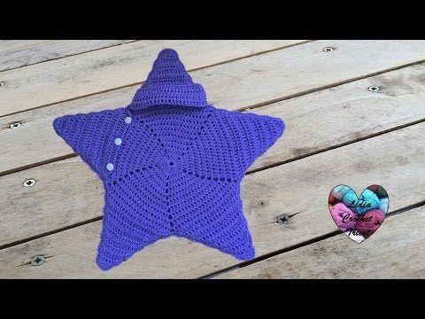 Cocoon étoile bébé crochet très facile / Baby cocoon star very easy ...