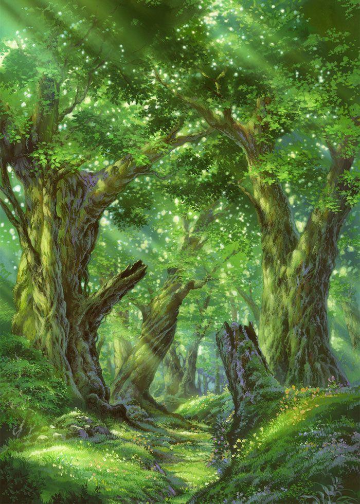 enchanted forest … in 2020 Fantasy art landscapes