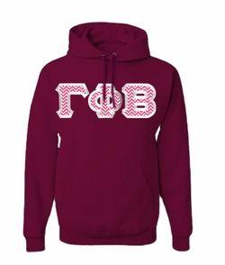 $40 Gamma Phi Beta Custom Twill Hooded Sweatshirt #greekgear #sororityhoodie Love the colors, but without the hood!