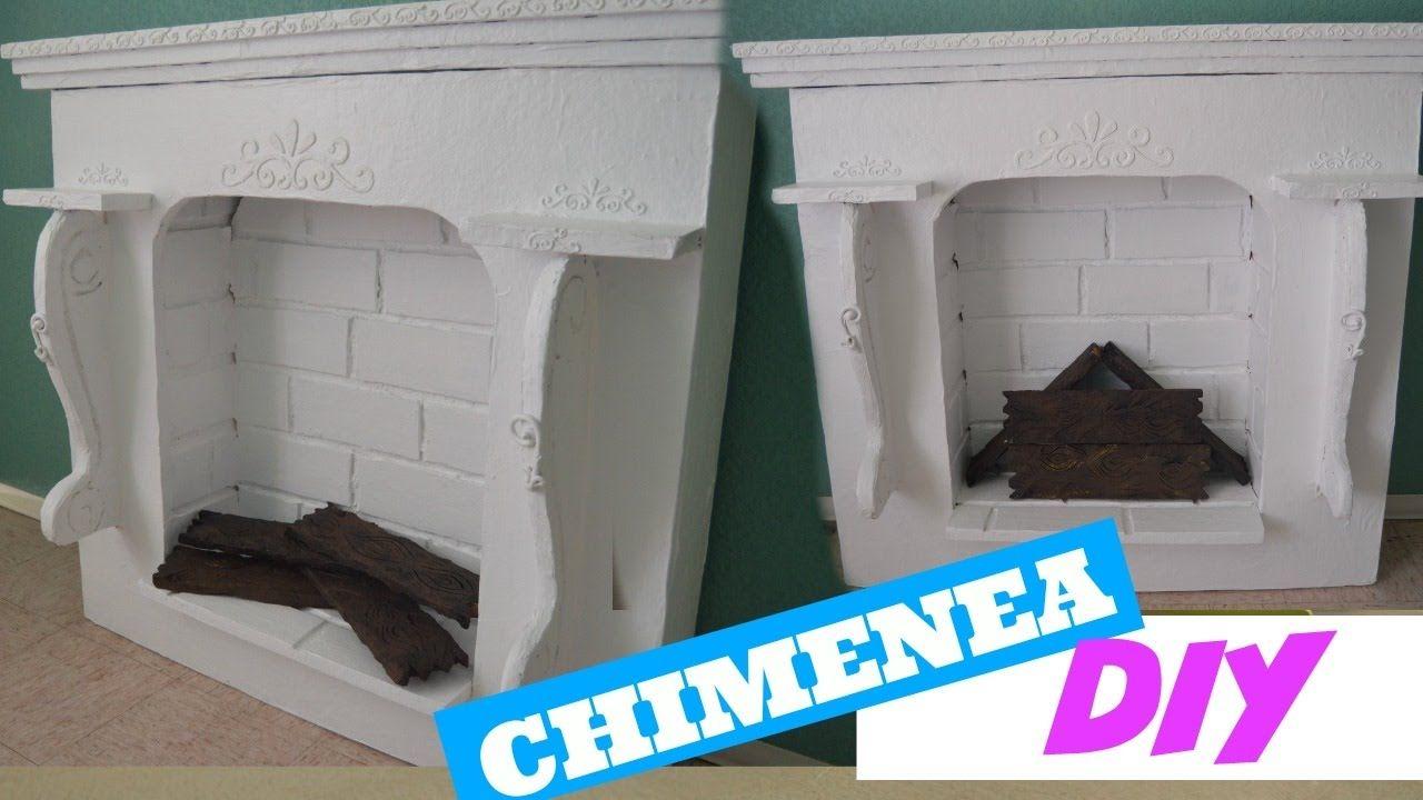 Como hacer una chimenea falsa curiosidades de gina - Chimenea decorativa madera ...